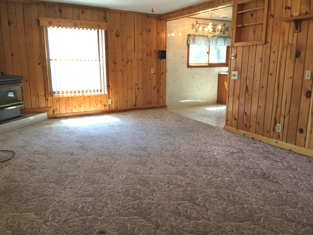 Living Room Opens to Kitchen- 781 Orbe Ct, Gladwin