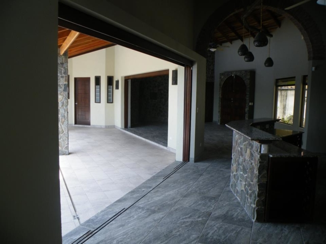 Kitchen Opens up to Patio- The Horseshoe